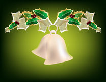 Christmas garland with silver bells Stock Photography