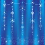 Christmas garland of snowflakes Royalty Free Stock Photos