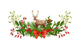 Christmas Garland Vector. Vector Christmas decorations. Holiday composition of the Christmas garland on white background Stock Image