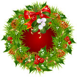 Christmas garland vector frame Stock Photos