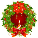 Christmas garland vector frame 3 Royalty Free Stock Image