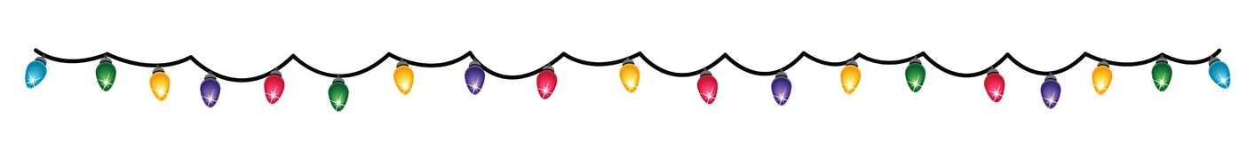 Christmas garland. Vector illustration. Flat style. New Year garland for Christmas trees, or for decorating the interior. Vector Stock Photo
