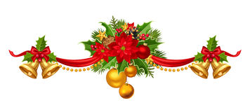 Christmas garland. Vector illustration. Royalty Free Stock Photo