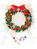 Christmas Garland  on the white background Stock Photo