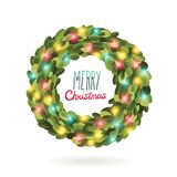 Christmas garland wreath vector image Stock Photography