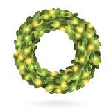 Christmas garland wreath vector image Royalty Free Stock Photo