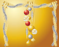 Christmas garlands Stock Photo