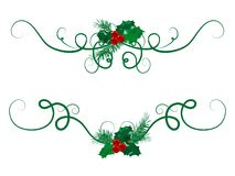 Christmas garlands Stock Images