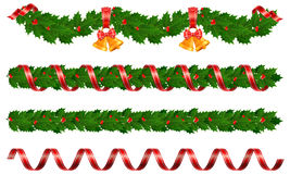 Christmas garlands Stock Image