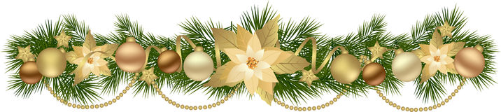 Christmas garlands with fir branches Stock Photography