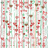 Christmas garlands with hearts Royalty Free Stock Image