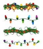 Christmas garlands set royalty free illustration