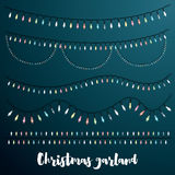 Christmas Garlands Set. Vector Illustration Royalty Free Stock Images