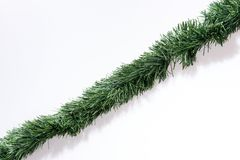 Christmas Garlands Straight Isolated On White Stock Image Image Of