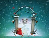 Christmas Gates Royalty Free Stock Images