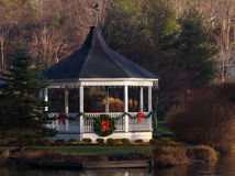 Christmas Gazebo Royalty Free Stock Photos