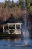 Christmas Gazebo. Gazebo decorated for Christmas in Blowing Rock, North Carolina stock images