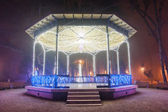 Christmas Gazebo Royalty Free Stock Photography