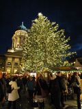 Christmas Gendarmenmarkt at night Royalty Free Stock Image