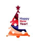 Christmas geometric banner, 2017 New Year. Vector illustration vector illustration