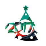 Christmas geometric banner, 2017 New Year. Vector illustration Stock Photography