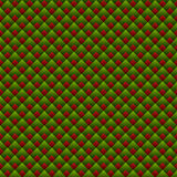 Christmas Geometric Red and Green Seamless Pattern Royalty Free Stock Photography