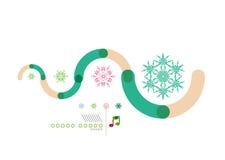 Christmas geometric shape minimal design Royalty Free Stock Image