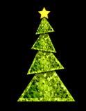 christmas geometric tree Στοκ Εικόνες