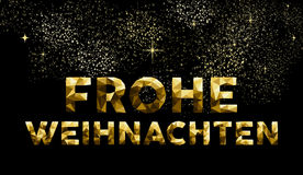 Christmas german frohe weihnachten low poly gold Royalty Free Stock Photo