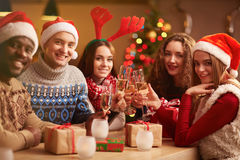 Christmas get-together Royalty Free Stock Images