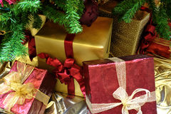 Christmas Gifrts Under The Tree Royalty Free Stock Photos