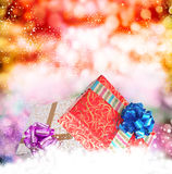 Christmas.Gift箱子 免版税库存图片
