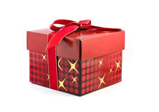Christmas gift. Red Christmas gift isolated on a white background Royalty Free Stock Images