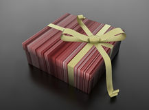 Christmas gift. In colorful box. 3D render Stock Photo