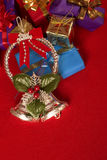 Christmas gift. Christmas decoration and gifts with copy space Royalty Free Stock Photography