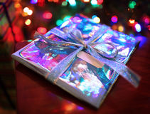 Christmas Gift. With copy space Royalty Free Stock Photography