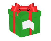 Christmas gift. On white background Royalty Free Stock Photography