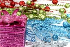Christmas gift. Box on white background Royalty Free Stock Image