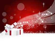 Christmas Gift. Background design with snowflakes Royalty Free Stock Images