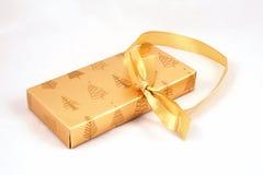 Christmas Gift. Partially open Christmas present Stock Photos