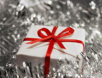 Christmas gift. A christmas gift in soft focus Stock Photos