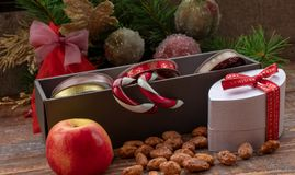 Christmas gift accessories stock photo