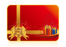 Christmas Gift And Red Background Stock Images