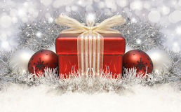 Christmas gift background Royalty Free Stock Photos