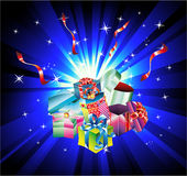 Christmas Gift Background with Abstract Design Ele Stock Images