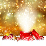 Christmas gift background stock illustration
