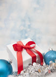 Christmas Gift background. With Copy Space Stock Photography