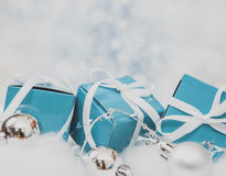 Christmas Gift background. With Copy Space Royalty Free Stock Images