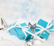 Christmas Gift background. With Copy Space Royalty Free Stock Photography