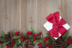 Christmas Gift background. With Copy Space Royalty Free Stock Image